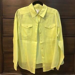 Chico's Linen Button Down Shirt (Size 1)